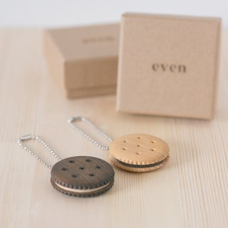 [even] cookie easy card - handcrafted wooden snack sandwich cookies, gift of choice