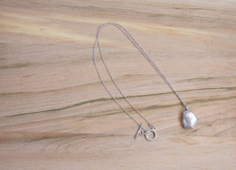 [ODY] HandMade × ANOTHER SPACE NECKLACE × simple design hand-crafted sterling silver necklace