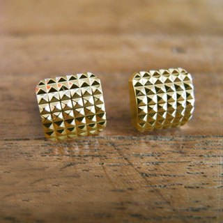 Time Travel【vintage handmade earrings:Golden rivet】