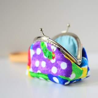 A very small coin purse - hungry catepillar - framed case with wristlet