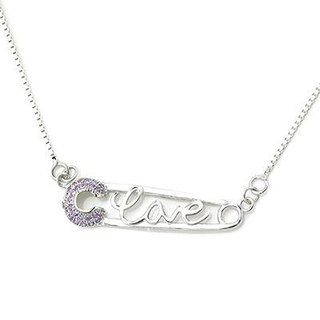 Hong Kong Design Heart Will closely --925 Silver CZ necklace love valentine anniversary gift anniversary gift