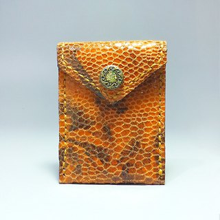[ANITA] limited edition hand-made workshop manual ‧ x brightly colored orange leather texture Wallets / purse - Specials