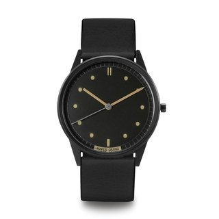 HYPERGRAND - 01 Basic Series - Vintage Black Dial Black Leather Watch