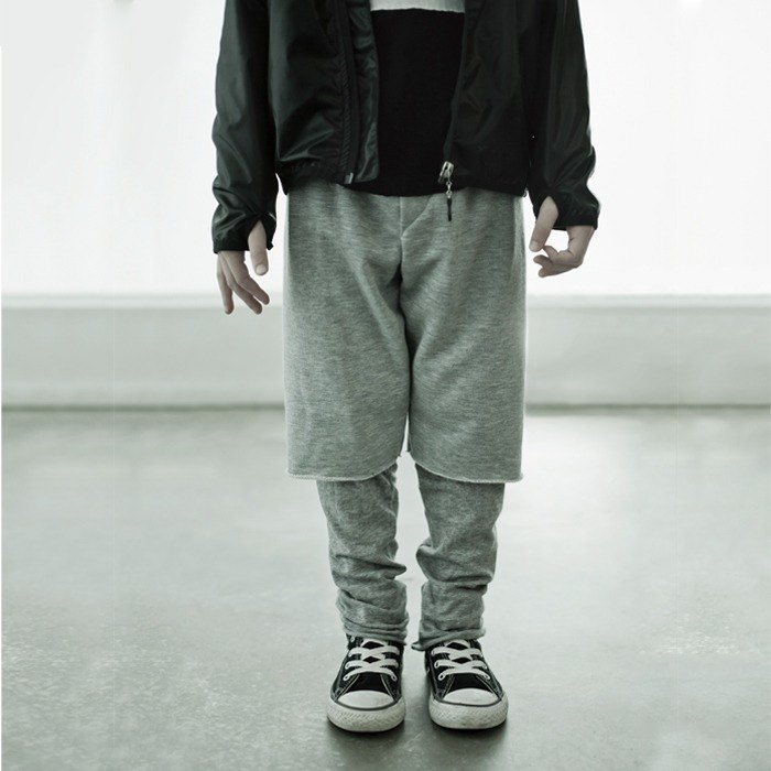 2,014 fall and winter NUNUNU overlapping plain trousers / one on one pants