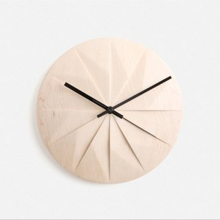 [PANA OBJECT] wood craft Shady / maple 12 equal clock / Black Hand