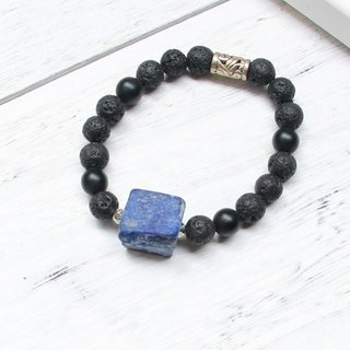 [Fitter] Afghanistan lapis lazuli original stone bracelet natural stone hand