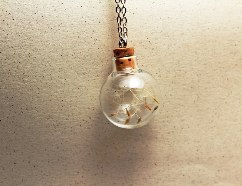 △ glass ball necklace - dandelion, and the light of the agreement - Limited Sold necklace