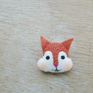 Large squirrel pin / magnet / key ring / animal hair ornaments