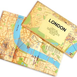 RocaMoss Wrinkle Resistant Waterproof Map - London