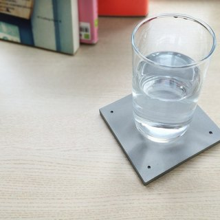 KALKI'D pro-cement ‧ magical absorbent coaster - [square gray]