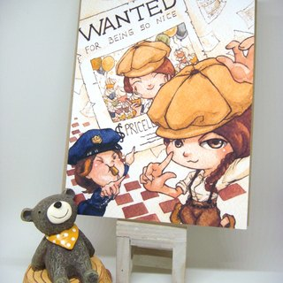 【Pin】WANTED for being so nice│Print│Thank you card with envelope at your choice