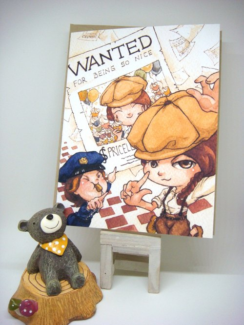 【Pin】WANTED for being so nice│Print│Birthday card with envelope at your choice