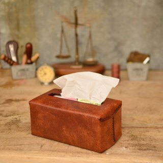 HIKER Leather Studio // Paper box_Median brown color