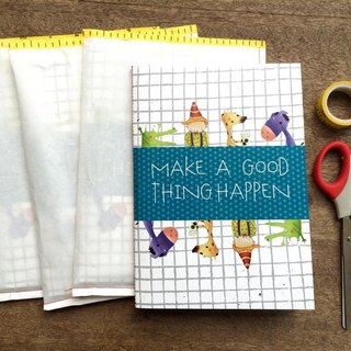 Make a good thing happen A5 hand-stitched square notebook