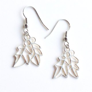 [Order production] Earrings / Silver 950 Holly (holly) Design