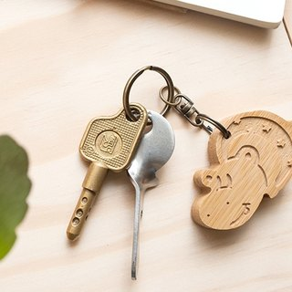 [customized gift] cute animal series / happy hippo key ring birthday Christmas lover gift