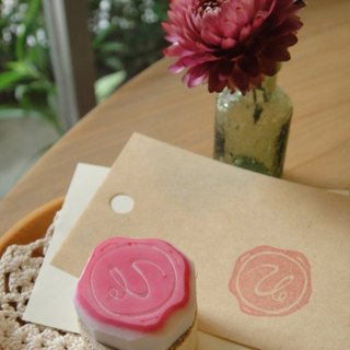 Hand-made rubber stamp - wax seal chapter (resolution 1 U)