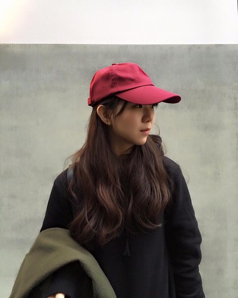 (Pre-order stage) hao Burgundy Red Wine Cap- Burgundy red old hat
