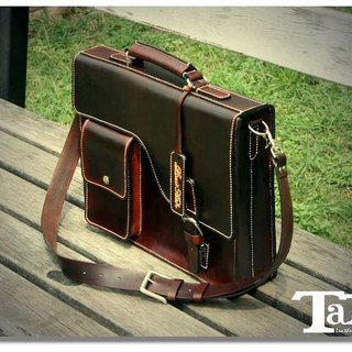 Business Bag Leather Briefcase