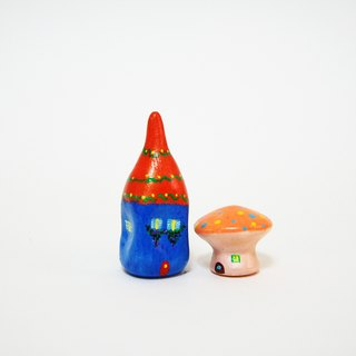 Little House Little House - Happy Party Hut / ice cream (orange) mushroom house combination