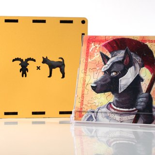 35P wooden puzzle _ Capricorn X Taiwan dog