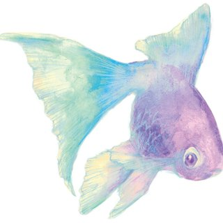blue goldfish sticker