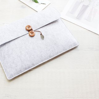"[Can be customized] original pure handmade light gray felt Apple computer protective cover blanket 12-inch laptop bag computer bag Macbook 12 ""(can be tailored) - ZMY031LG12A"