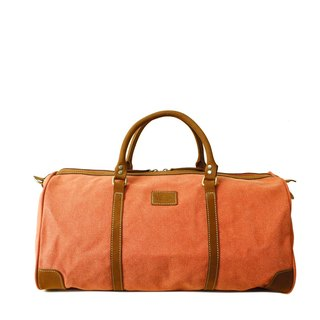 [Happa] simple fashion bag - suede short put - stonewashed canvas classic (Rust rust orange)