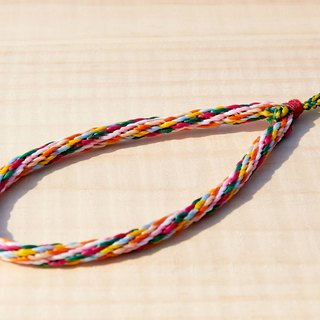Blending woven silk rope wax line camera / key ring - multicolor silk rope wax (customized)