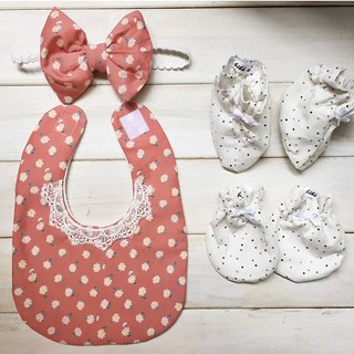 MIT Handmade newborn baby girl flower floral pattern moon births attached gift packaging