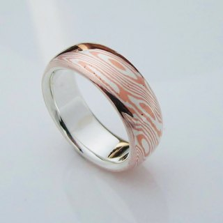Element 47 Jewelry studio~ mokume gane ring 26  (silver/copper)