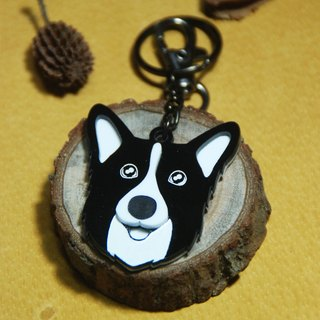 Mao children around key ring / Border Collie