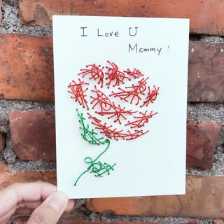 Super feel Aluminum Pop-up Card ~ send you a rose Happy Mother's Day