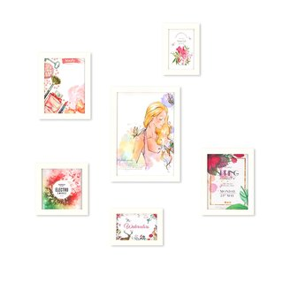 HomePlus Photoframe Whiteframe 6PCS Girls Decor