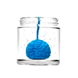Brainfart55 formalin series fragrance candle - Blue Brain