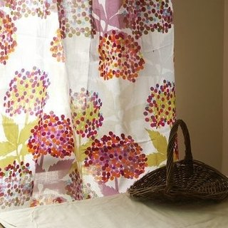 Made in India Lightweight Cotton Multipurpose Fabric/Window Curtain Summer Hydrangea