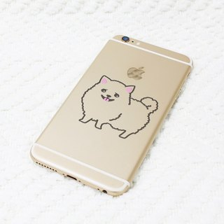 [Reflective stickers] Hiromi Hairball paragraph Pomeranian 6 * 5.3 cm