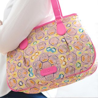 Videos jacquard woven shoulder bag butterfly kaleidoscope cowhide crease