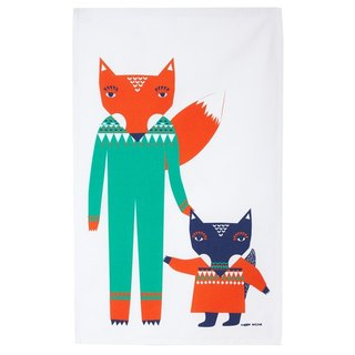 Fox Friends Painted Napkins | Donna Wilson