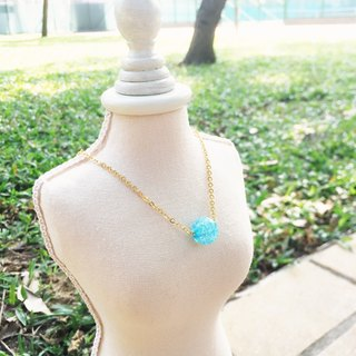 """LaPerle"" a lake Lanbing popcorn flower necklace 16k gold-plated brass bead necklace Handmade Christmas gifts"