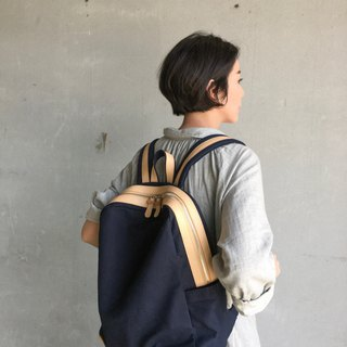 WEEK'N BACKPACK (NAVY&BEIGE)