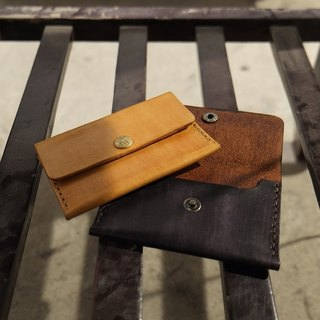 Lovey leather Accessories / business card holder card package card holder - natural vegetable tanned leather, hand-made Japanese handstitch