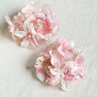 [MITHX] cherry color, flower feast, a small side clip brooch, hairpins, styling hair accessories - powder