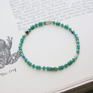 Glass beads bracelet the frog prince