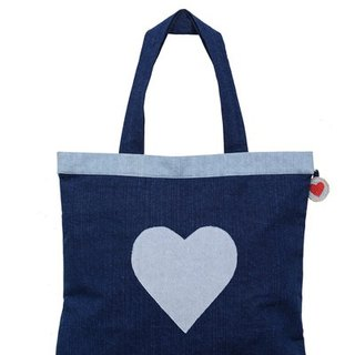 True to Yourself Denim Tote Bag