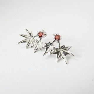 The Maple Leaf series – (925 sterling silver earrings) - Cpercent handmade jewelry