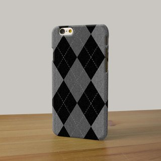 Black Argyle Pattern 3D Full Wrap Phone Case, available for  iPhone 7, iPhone 7 Plus, iPhone 6s, iPhone 6s Plus, iPhone 5/5s, iPhone 5c, iPhone 4/4s, Samsung Galaxy S7, S7 Edge, S6 Edge Plus, S6, S6 Edge, S5 S4 S3  Samsung Galaxy Note 5, Note 4, Note 3,  N