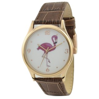 Flamingo Watch Brown Band Unisex Free Shipping Worldwide