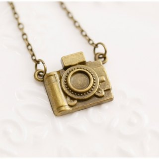 Engraved camera necklace