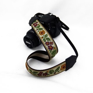 Camera strap can print personalized custom leather stitching national wind embroidery pattern 005